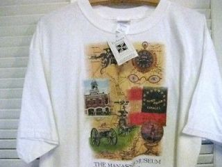 mens manassas museum civil war cotton t shirt size xl