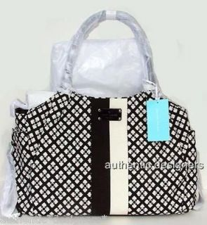 New Kate Spade Large CLASSIC SPADE Handbag Black White Stevie Baby