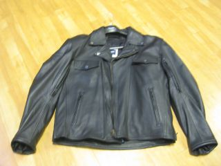 Mens Triumph T Bird Leather Motorcycle Jacket Black size small