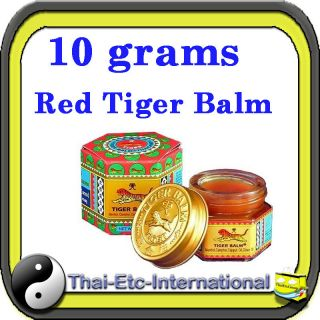 10 g TIGER BALM RED Herbal Rub Massage ointment Pain Relief Muscle