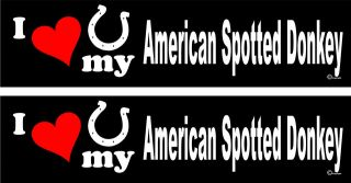 love my American Spotted Donkey Horse trailer stickers LARGE 3