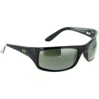 maui jim peahi 202 02 gloss black polarised sunglasses