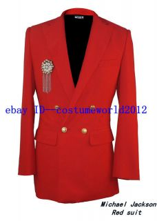 NEW MICHAEL JACKSON RED CLOSE FITTING JACKET COAT   Pro Series