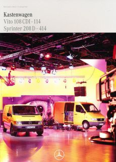1999 mercedes benz sprinter vito german sales brochure time left