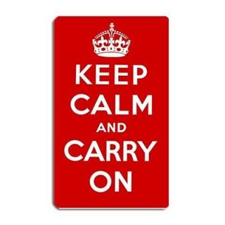 New Custom Keep Calm And Carry On Large Fridge Magnet 5x3