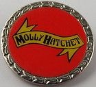 molly hatchet vintage 1980 s circular metal pin badge buy