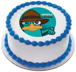 Agent P (Phineas & Ferb) Edible Cake OR Cupcake Toppers Decoration by
