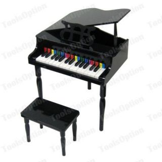 new child s black piano baby grand kids w bench toy expedited shipping