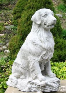 golden retriever dog statue monument