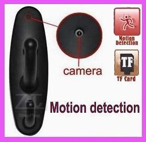 Motion Detection Cothes Spy Hook Camera Video Recorder Mini DVR Black