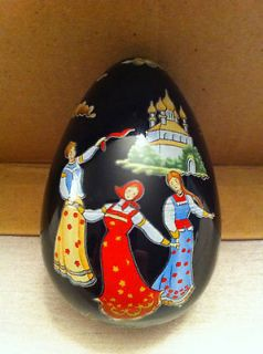 "Faberge Egg, Collectible, Franklin Mint ""RUSSIAN LACQUER"""