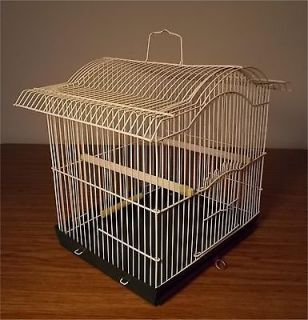 Vintage Ornate Metal Wire BIRD CAGE HANGING Remove​able TRAY