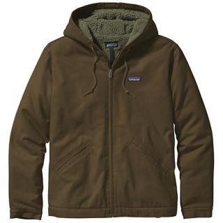 patagonia mens fleece lined canvas hoody jacket new