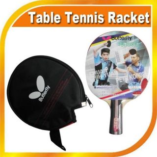 Butterfly TBC302 Ping Pong Table Tennis Paddle Bat Racket w/Case