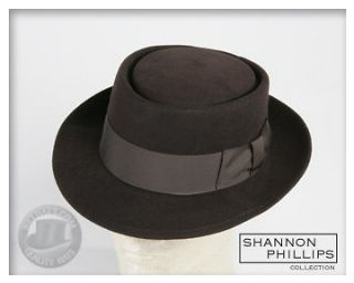 brown porkpie jazz hat all sizes instock new pork pie