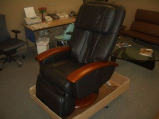 black ht 136 human touch leather massage chair time left