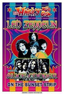 led zeppelin at the whisky a go go concert poster