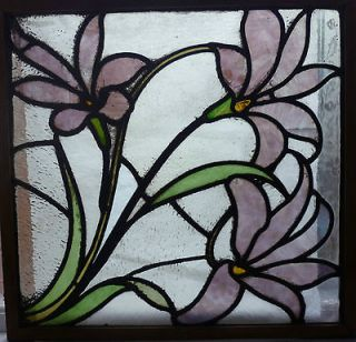 Superb Victorian Art Nouveau period Stained Glass Panel, circa .1900