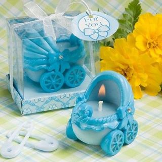 12 25 60 or 100 Blue Baby Carriage Candle Baby Shower/Baptism