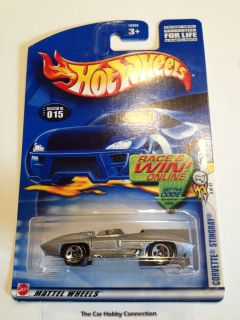 Chevy Corvette Stingray Concept (Silver) Diecast Model Car Scale 164