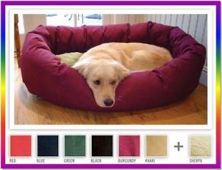 Large 52 Pet Dog Dogs Soft Luxury HD Sherpa Bagel Donut Bed Beds 6
