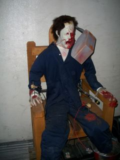 TOTALLY SPOOKY Life Size Torture Chair HALLOWEEN PROP animatronic