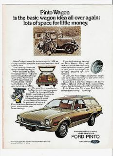 1972 Ad for 1973 Ford Pinto Station Wagon with Squire Option