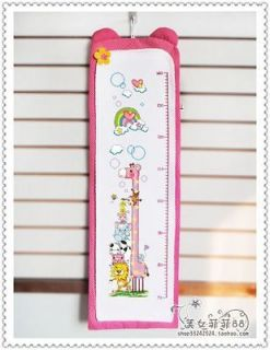 Cross Stitch Kit   Growth Height Chart for baby or kid giraffe