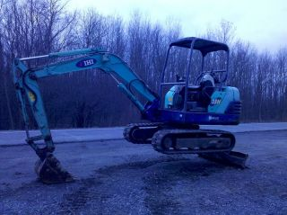 2004 ihi 35n mini excavator dozer backhoe