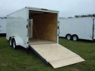6x12 Enclosed Trailer Cargo Tandem Dual Double Axle V Nose Lawn