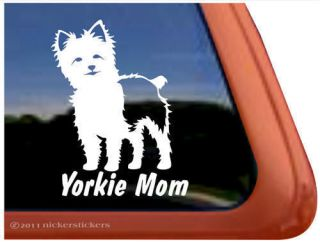 YORKIE MOM ~ High Quality Vinyl Yorkshire Terrier Puppy Window Sticker