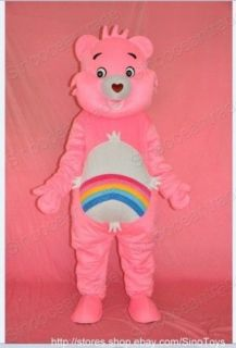 care bear pink mascot costume fancy dress outfit from china