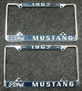 67 mustang license plate frames new fb fastback code 390