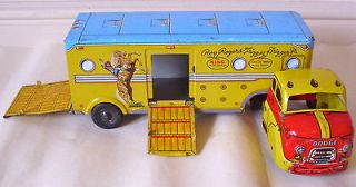 marx tinplate roy rogers horse trailer from united kingdom time