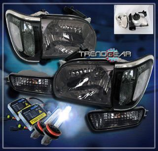 01 04 TOYOTA TACOMA PICKUP CRYSTAL HEAD LIGHTS+CORNER+​BUMPER+HID 8K