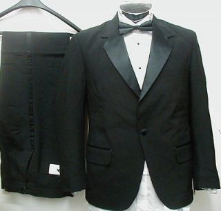 New Mens 1 Button Tuxedo Suit Tux Shirt 42 Long L 42L /38