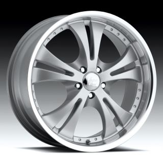 17 inch vision shockwave silver wheels rims 5x115 42 time