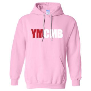 YOUNG MONEY WEEZY WAYNE SWEAT SHIRT LIL HIP HOP RAP *PINK* R/W MD