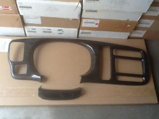 2001 chevy express van black cherry wood finish dash kit