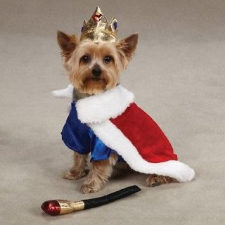 Zack & Zoey Royal Pup King Halloween Dog Costume w/Crown, Cape and