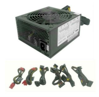 Modular ATX Power Supply 140mm Cooling Fan PCI E SATA 1000W PC