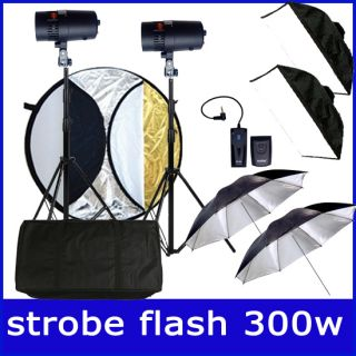 300W 2 FLASH STROBE WIRELESS SOFTBOX STUDIO LIGHT HIP HOP KIT