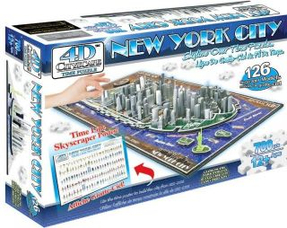 4D Cityscape New York City Skyline Puzzle