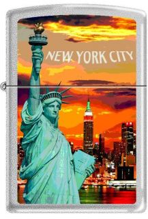 Zippo Collectible Lighter New York City Skyline & Statue of Liberty at