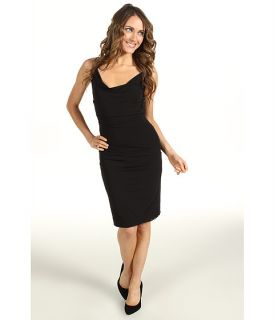 Nicole Miller Cowl Neck Stretchy Matte Jersey Dress $310.99 $345.00
