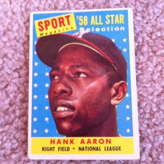 1958 Topps 488 Hank Aaron All Star Card