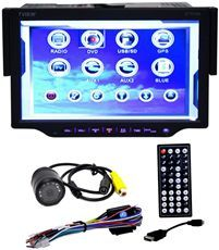 TView D73TSB 1 DIN 7 Car Stereo DVD Receiver w/ Bluetooth + Backup