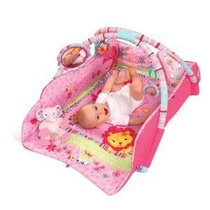 Bright Starts Pink Deluxe Baby Play Place Activity Gym New