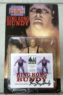 King Kong Bundy Limited Signed Edition Wrestling Action Figure Only
