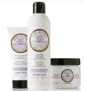 Perlier Shea Butter with Lavender EXTRACT 3 PC Bath Body Kit Customer